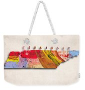 Tennessee Map Art - Painted Map Of Tennessee Weekender Tote Bag
