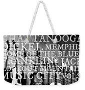 Tennessee Words Sign Weekender Tote Bag