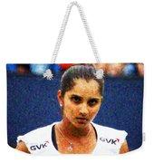 Tennis Player Sania Mirza Weekender Tote Bag by Nishanth Gopinathan