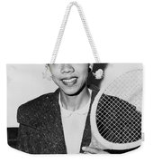 Tennis Star Althea Gibson Weekender Tote Bag