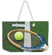 Tennis - Wooden Tennis Racquet Weekender Tote Bag by Paul Ward