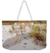 Tents At Yukon River In Remote Taiga Wilderness Weekender Tote Bag