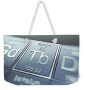 Terbium Chemical Element Weekender Tote Bag