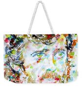 Terence Mckenna - Watercolor Portrait.3 Weekender Tote Bag