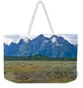 Teton Peaks And Flatland Near Jenny Lake In Grand Teton National Park-wyoming Weekender Tote Bag