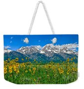 Teton Peaks And Flowers Weekender Tote Bag