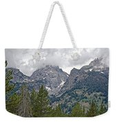 Teton Peaks Near Jenny Lake In Grand Teton National Park-wyoming- Weekender Tote Bag