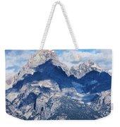 Teton Range And Two Trees Weekender Tote Bag