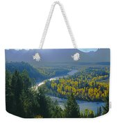 2m9301-teton Range From Snake River Overlook Weekender Tote Bag