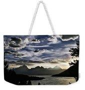 Teton Range Sunset Weekender Tote Bag