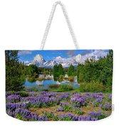 Teton Spring Lupines Weekender Tote Bag