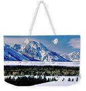 Teton Valley Winter Grand Teton National Park Weekender Tote Bag