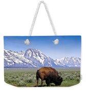 Tetons Buffalo Range Weekender Tote Bag