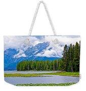 Tetons From Heron Pond In Grand Teton National Park-wyoming Weekender Tote Bag