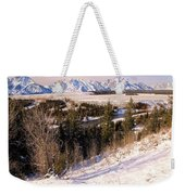 Tetons In The Distance Weekender Tote Bag