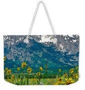 Tetons Peaks And Flowers Center Panel Weekender Tote Bag