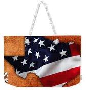 Texas American Flag Map Weekender Tote Bag