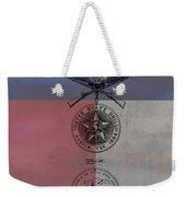 Texas Badge Patent On Texas Flag Weekender Tote Bag