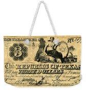Texas Banknote, 1841 Weekender Tote Bag