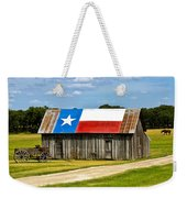 Texas Barn Flag Weekender Tote Bag