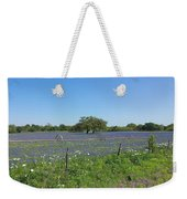 Texas Blue Bonnets Weekender Tote Bag by Shawn Marlow