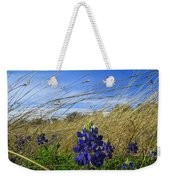 Texas Bluebonnet Center Of Attention Weekender Tote Bag