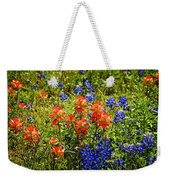 Texas Bluebonnets And Red Indian Paintbrush Weekender Tote Bag