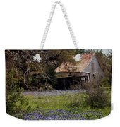 Texas Bluebonnets With Old Abandoned Shack Weekender Tote Bag