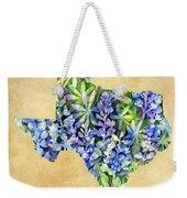 Texas Blues Texas Map Weekender Tote Bag