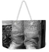 Texas Boots Portrait - Bw 03 Weekender Tote Bag