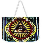 Eye Of Providence Texas Church Window Weekender Tote Bag