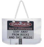 Texas Danger Rattle Snakes Signage Weekender Tote Bag