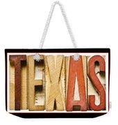 Texas Weekender Tote Bag