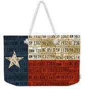 Texas Flag The Lone Star State License Plate Art Weekender Tote Bag