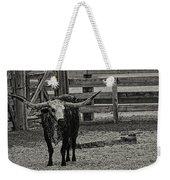 Texas Longhorn Black And White Weekender Tote Bag