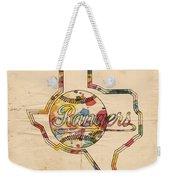 Texas Rangers Logo Vintage Weekender Tote Bag