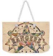 Texas Rangers Poster Art Weekender Tote Bag
