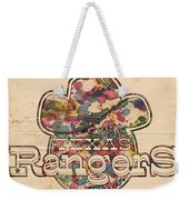 Texas Rangers Vintage Art Weekender Tote Bag