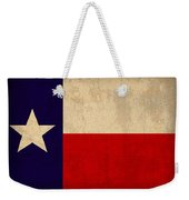 Texas State Flag Lone Star State Art On Worn Canvas Weekender Tote Bag