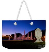 Texas Tech University Seal And Blue Sky Weekender Tote Bag