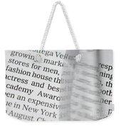 Text And Eyeglasses Weekender Tote Bag