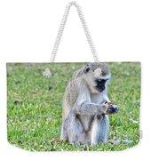 Texting Monkey Weekender Tote Bag