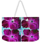 Textured Blossoms Weekender Tote Bag
