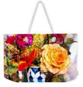 Textured Bouquet Weekender Tote Bag