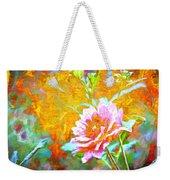 Textured Dahlia Perfection Weekender Tote Bag