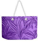 Textured Flower Weekender Tote Bag