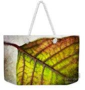 Textured Leaf Abstract Weekender Tote Bag