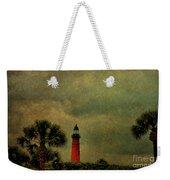 Textured Lighthouse Weekender Tote Bag