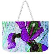 Textured Wild Purple Iris Weekender Tote Bag