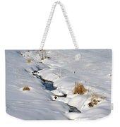 Textured Winter Blues Weekender Tote Bag